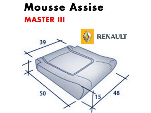 Mousse d'assise moulée Master III