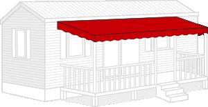 Bâche terrasse mobil home sur-mesure toiture