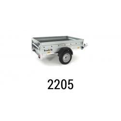 Bache remorque Brenderup 2205