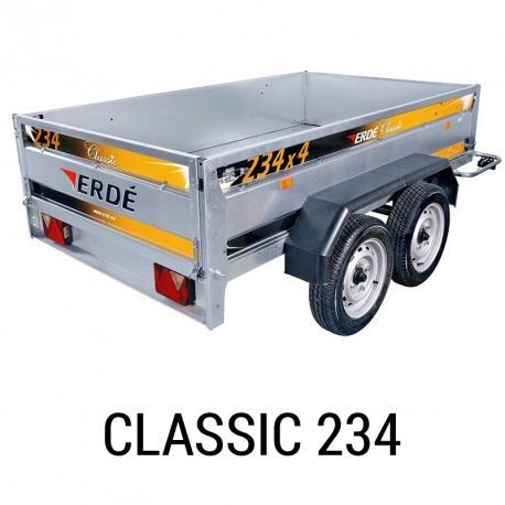 Bache remorque Erde Classic 234x4
