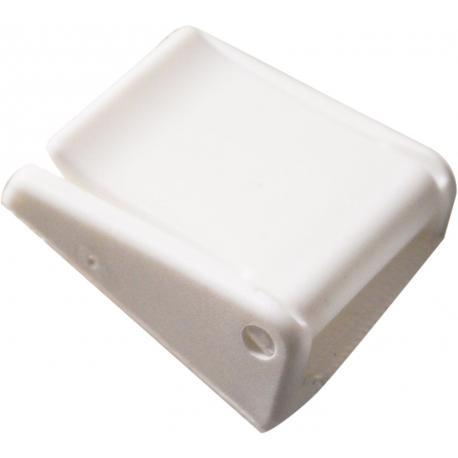 Boucle à pincement 25mm blanche