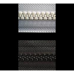 YKK 9mm au mètre linéaire Noire / Blanche