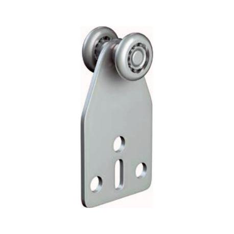 Roulette 15mm INOX, roulement à bille inox et plaque en INOX