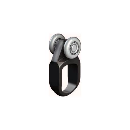 Roulette rail 15mm anneau nylon