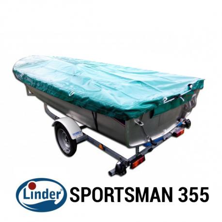 Bache de protection pour barque LINDER SPORTSMAN 355