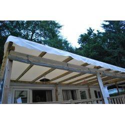 6,00m x 2,90m bache toiture mobil home Jaune / Blanc