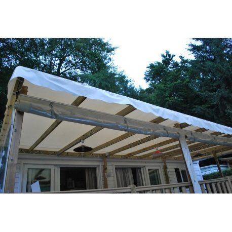 5.60m x 3.50m bache toiture mobil home blanc