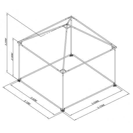 Pyramide 3x3 ou 9 m²