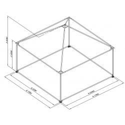 Pyramide 4x4 ou 16 m² BLANC