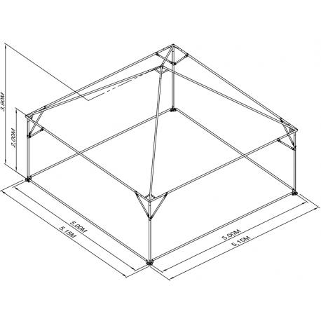 Pyramide 5x5 ou 25 m² BLANC M2