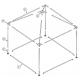 Pyramide 3x3 ou 9 m² Pièces détachées