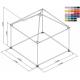 Pyramide 3x3 ou 9 m² couleur M2