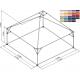 Pyramide 5x5 ou 25 m² COULEUR M2