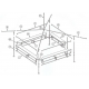 PLAN PIECES DETACHEES ABRIS BUVETTE 4.50 x 4.50m