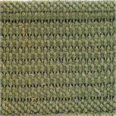 Sangle 100% coton 25mm kaki armée gros plan