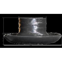 Chrochet champignon noir 36mm avec cotes