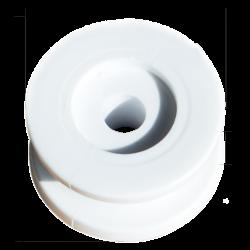 Poulie à gorge blanche 24mm avec cotes