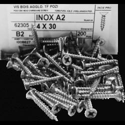 Boîte de 200 Vis Inox 4x35