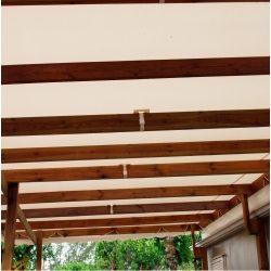 Fixation sous toiture sur chevron sanglon PVC