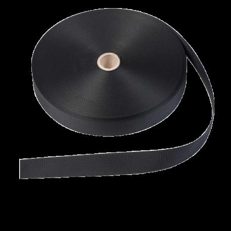 Sangle noir 25mm polyester