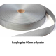 sangle grise metre lineaire 50 mm polyester