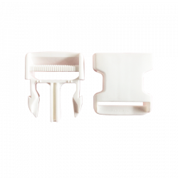 Boucle Clips blanche 40mm