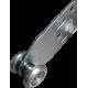Roulette rail 24mm Inox, roulement à bille et plaque en Inox - Vue 3/4
