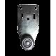 Dimensions roulette rail 24mm Inox, roulement à bille et plaque en Inox