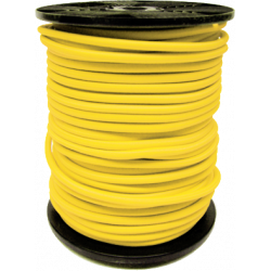 Sandow Bobine 100m Cable elastique jaune 6mm
