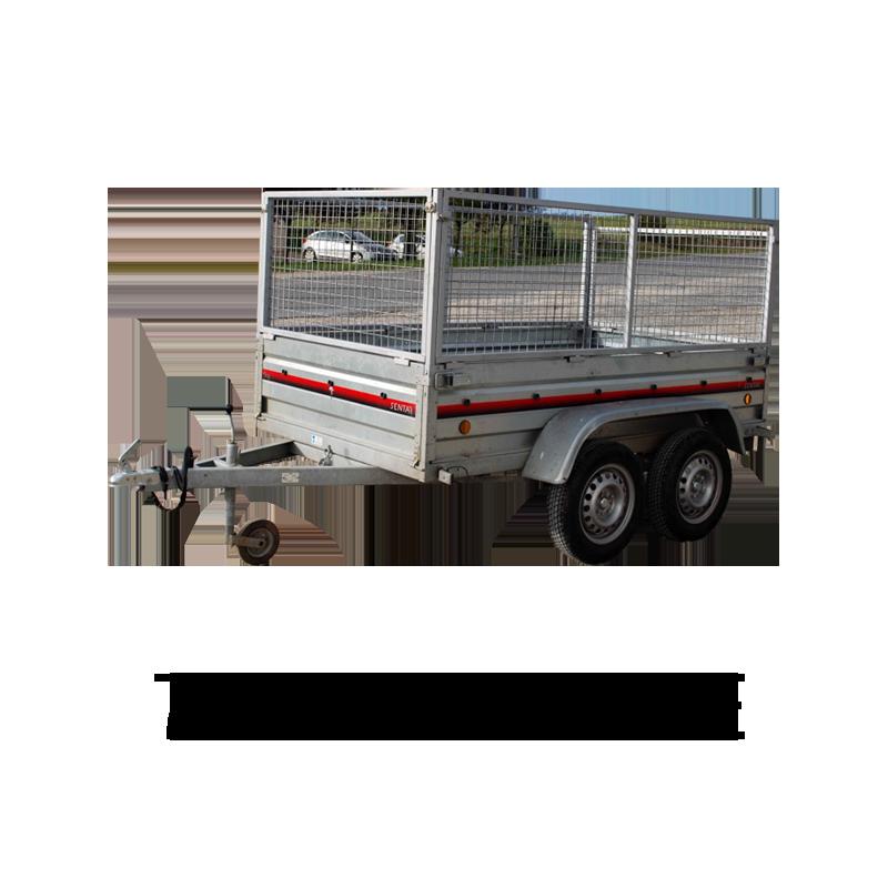remorque double essieux univert