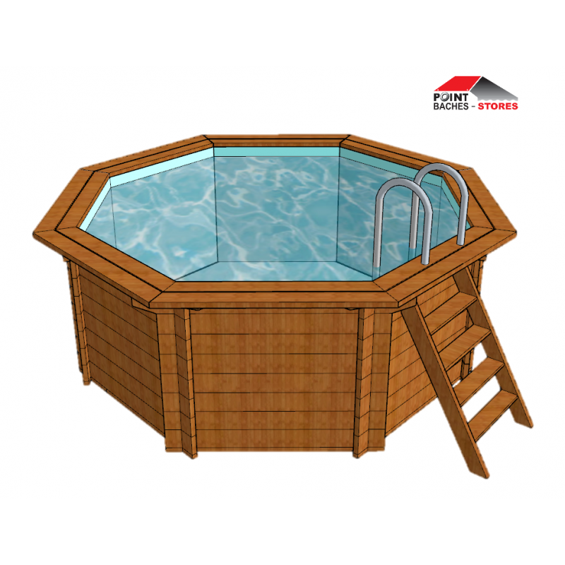 B che hivernage piscine ubbink lagon for Enrouleur bache piscine octogonale