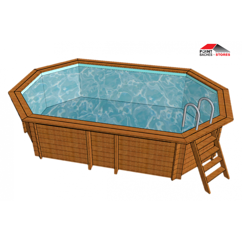 B che hivernage piscine ubbink ocea x for Bache octogonale piscine