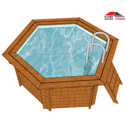 B che et couverture pour piscine hexagonale point b ches for Bache piscine sunbay