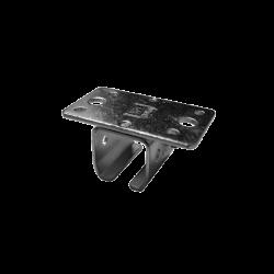Support de plafond pour rail 19 x25 mm - Complet
