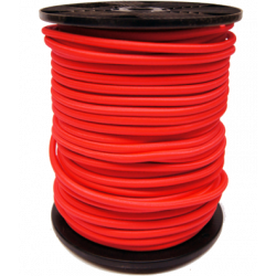 Sandow Bobine 100m Cable elastique rouge 6mm