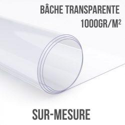 Bâche transparente 1000gr/m² sur-mesure