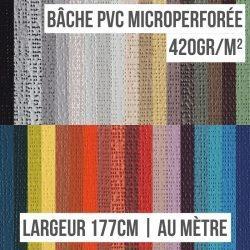 Bâche PVC microperforée 420gr/m² au mètre linéaire largeur 177cm