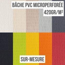 Bâche PVC microperforée 420gr/m² sur-mesure