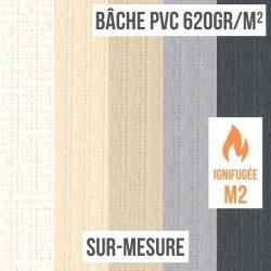 Bâche PVC 620gr/m² ignifugée M2 sur-mesure
