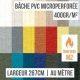 Bâche PVC microperforée 400gr/m² ignifugée M2 au mètre linéaire largeur 267cm