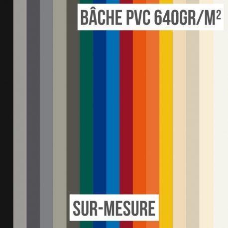 Bâche PVC 640gr/m² sur-mesure