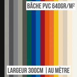Bâche PVC 640gr/m² largeur 300cm au mètre