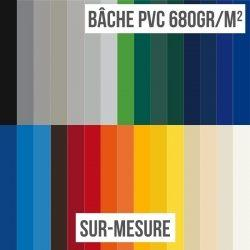 Bâche PVC 680gr/m² sur-mesure