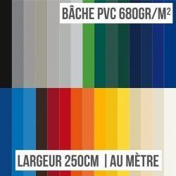 Bâche PVC 680gr/m² largeur 250cm au mètre