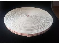 Écru rayé rouge Rouleau de 50m