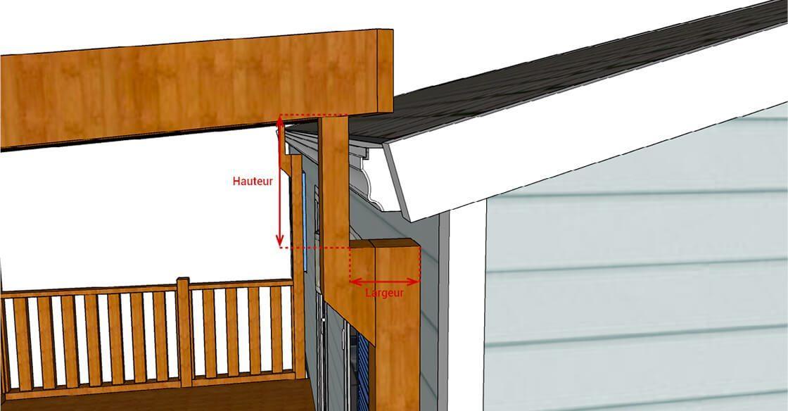 Terrasse mobile home sans décroché de gouttière